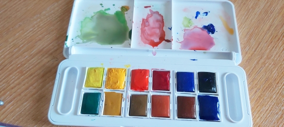 Palette in use